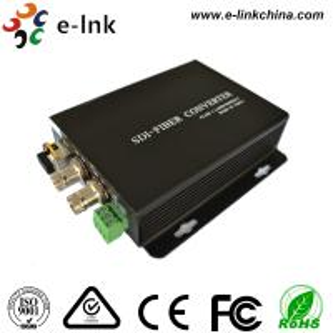 China 20 Km Hd Sdi To Fiber Optic Converter Single Mode 0 - 400K/Bps Frequency wholesale