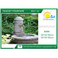 China Stone Faucet Cast Stone Garden Fountains Granite Sink For Backyard Lightweight wholesale