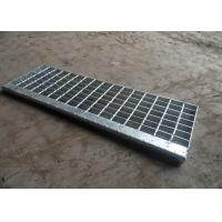 China Hot Dip Galvanised Stair Treads , T1 / T2 / T3 / T4 Bar Grating Stair Treads wholesale