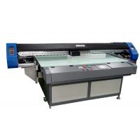 China Auto Led Flatbed UV Inkjet Printer 1700mm Two Epson Print Heads wholesale