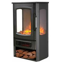 China 3 Sided Wooden Burning Electric Fireplace Heater New Patented Led Flame Effect Freestanding Stove Nd-183C wholesale
