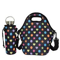 China High level outdoor picnic insulated neoprene lunch tote with water bottle cover.Size:30cm*30cm*16cm wholesale