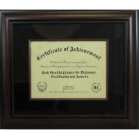 "China Single Opening 11""x 8 1/2"" Matted <strong style=""color:#b82220"">Document</strong> Picture <strong style=""color:#b82220"">Frames</strong> In Mahogany Made Of Solid Wood wholesale"