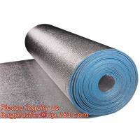 Aluminum foil coated with 3mm EPE foam for thermal insulation,Thermal break foil covered foam insulation board,bagease