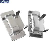 China Durable Stainless Steel Strapping Material Banding Strap Buckles With Ear Locking wholesale