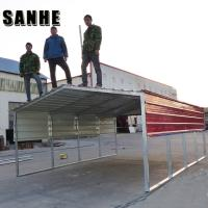 China Easy asemble backyard DIY steel shed car shelter kit large garage canopy metal portable car port wholesale