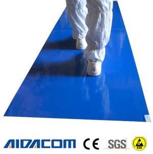 China Lab Hospital Static Dissipative 50um 26x45'' ESD Sticky Mat wholesale