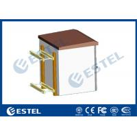 China IP55 Pole Mount Cabinet Small Outdoor Metal Box With Equipment Tray wholesale