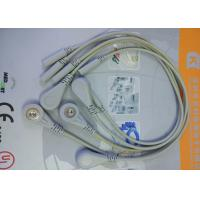 Quality 5 Leads Snap ECG Monitor Cable Leadwires , Compatible Din Style ECG Truck Cable for sale