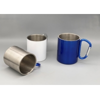 China Double Walled Insulated Silver 250ml Camping Cups wholesale