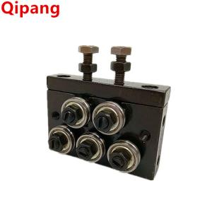 China Shanghai Qipang low cost high quality angle straightening machine for 4mm or less, 5-roller wire roll straightener. on sale