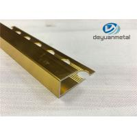 China Ceramic Tiles Decorative Aluminium Trim With Polishing Surface Treatment wholesale