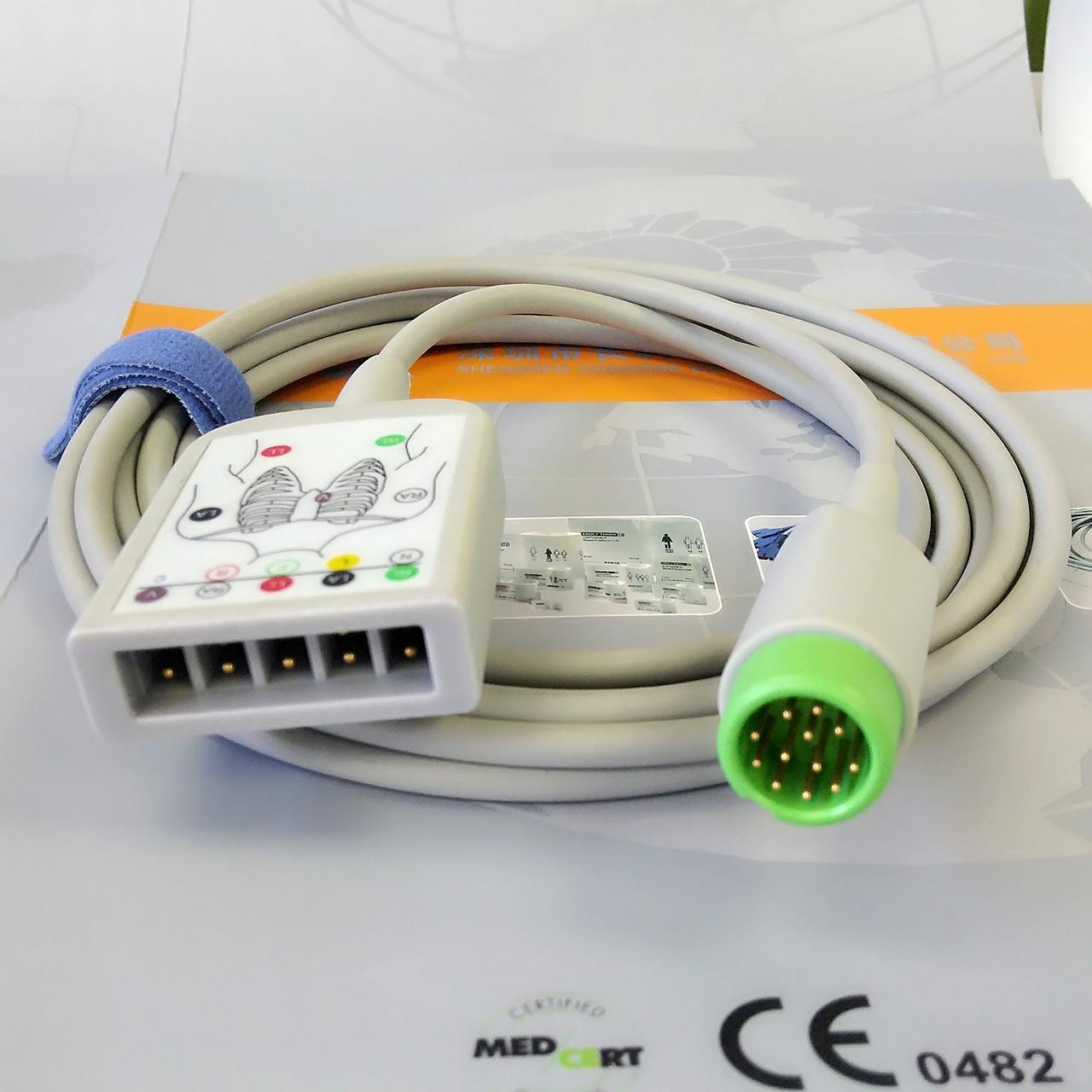 Quality Compatible ECG Monitor Cable , Hospital Accessories Products ECG Trunk cable 12 pins for sale