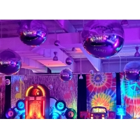 China Giant Double Layer Sliver PVC Inflatable Mirror Ball Inflatble Mirror Balloon For Event Decoration wholesale