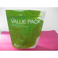 China Recycled Laminated Green Stand Up Pouch Bag Ziplock for Facial Cream wholesale
