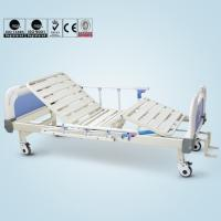 China Double Cranks Manual Hospital Bed Adjustable With ISO / CE / FDA Certificate wholesale