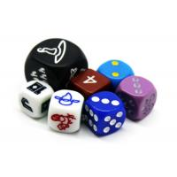 China Engrave Board Game Accessories / Resin Metal Mini D10 Dice Rounded Dots Pattern on sale