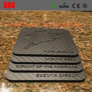 China Carbon fibre plate 100% real carbon fiberCARBON TOUCH CARBON FIBER SQUARE MOUSEPAD on sale
