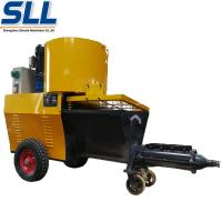 Buy cheap Automatic Exterior Wall Plastering Machine Cement Rendering Machine In Yellow from wholesalers
