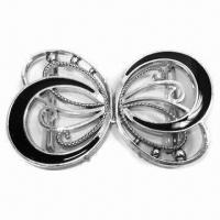 China Trendy clip buckle for women clothing, comes in butterfly shape, with black epoxy color/bar at back wholesale