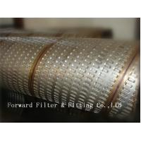 Quality 316L Stainless Steel Perforated Metal Tube , Perforated Spiral Welded Tube for sale