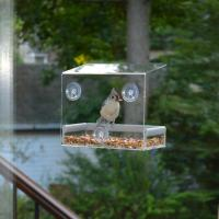 China Wholesale 2016 Custom Hanging Bird Water Feeder,Grateful Gnome Window Brid Feeder,Acrylic Clear wholesale