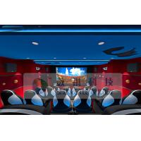 China Special Effects 6D Cinema Equipment With Blue And Red Design wholesale