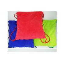 China Multi purpose Microfiber Drawstring Beach Towel Bag , Colorful Folding Beach Towel Bag wholesale