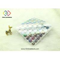 China 20mm Round Shape Disposable Holographic Sticker Paper With Custom Logo wholesale