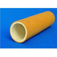 Buy cheap 600 Degree High Temperature Felt , Polyester Yellow Felt Roll Tube Sleeve from wholesalers