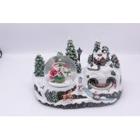 China newest resin christmas eve trees water snow globe wholesale