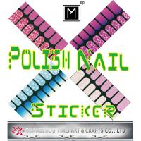China Eco friendly ink and Glue Custom Art Polish Nail Sticker, custom full nail Decals on sale