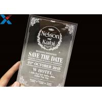 China Laser Cut Acrylic Wedding Invitation Cards / Mirror Clear Invitation Card wholesale