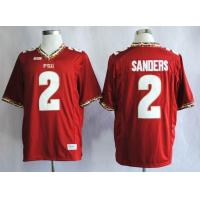 Quality NCAA Florida State Seminoles (FSU) Deion Sanders 2 College Football Jerseys -Red for sale