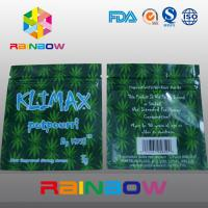 China 3g KUSH Customized Three Side Seal Herbal Packaging Ziplock Bag wholesale