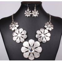 China European and American Fan exaggerated necklace cross necklace antique silver petals on sale
