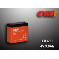 China 1.12KG Sealed Lead Acid Battery 4V 9Ah CB490 Series ABS Plastic V0 Battery wholesale