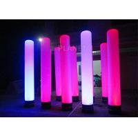 China Colorful Inflatable Column Built In Blower With Led Light / Repair Kit wholesale