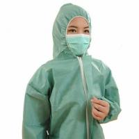 China ISO Standard Non Woven Surgical Gown One Piece Work Uniform With Long Sleeve wholesale