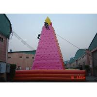 Quality Large Adult Inflatable Games , Wonderful Outdoor inflatable Rock Wall for sale