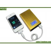 China Gold LCD Display Power Bank Credit Card Power Banks 12000mAh With LED wholesale