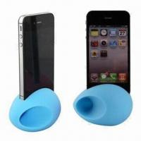 China Speakers for iPhone 4S/4, Silicone Material, Egg Design, Various Colors Available wholesale