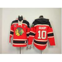 Quality NHL Chicago Blackhawks 10 Patrick Sharp Red Hoodies Jersey Old Time Hockey for sale