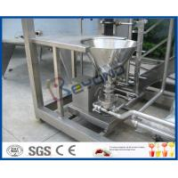 Skid Mounted 1000L / H Dairy Products Machinery , Milk Processing Plant  With Cream Separator