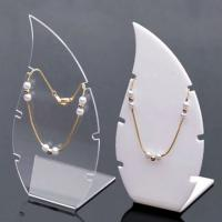 China Transparent Acrylic Counter Jewelry Display Case Necklace Holder wholesale