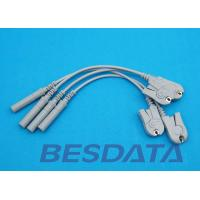 China Din 3.0 / Banana 4.0 Plug EKG Adapter Cable To Grabber / Clip Type 10pcs Per Sets wholesale
