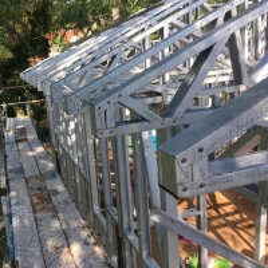 China Residential Construction Light Steel Frame Houses , ISO 3834 Light Gauge Steel House wholesale