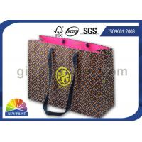 China Customized Matte Laminated Luxury Paper Tote Bag with Grosgrain Handle / Coated Paper wholesale