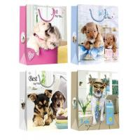 China Christmas Paper Gift Bags with lovely dog pattern desgins wholesale