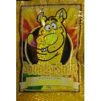 China Glossy Herbal Incense Bag 10g Scooby Snax Hologram Yellow Potpourri wholesale
